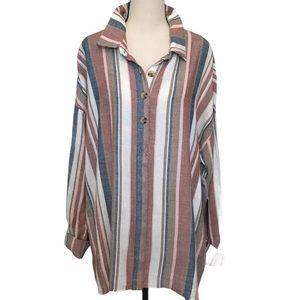 Daytrip | linen blend striped blouse
